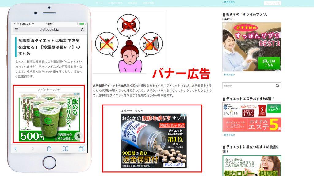バナー広告のイメージ